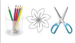 Трафареты цветов для вырезания: скачать и распечатать