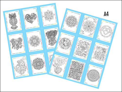 Раскраски антистресс формата А4