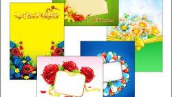 Шаблон поздравительной открытки: скачать и распечатать