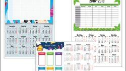 Расписание уроков с календарем 2018-2019