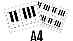 Клавиатура фортепиано на А4: скачать и распечатать