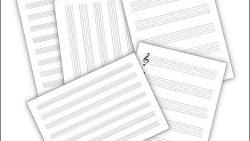 Нотный лист А4: скачать и распечатать