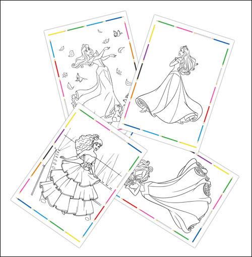 Раскраски принцессы А4 формата