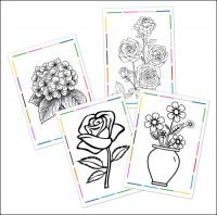 Раскраски цветы А4 формата