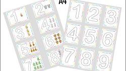 Раскраски цифр А4 формата