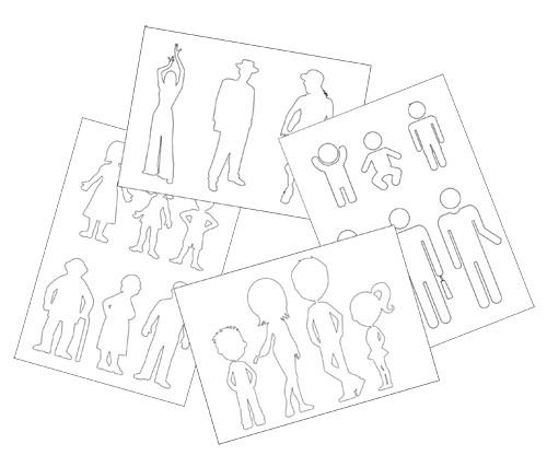 Шаблоны людей для вырезания из бумаги: скачать и распечатать