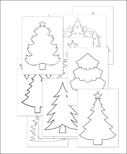 Шаблон елки для вырезания из бумаги: скачать и распечатать
