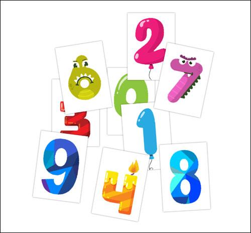 Красивые цифры: распечатать и вырезать