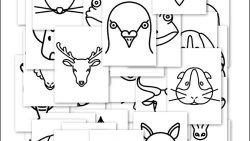 Силуэты животных: вырезать и раскрасить