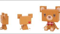 Медвежонок из бумаги: распечатать, вырезать и склеить