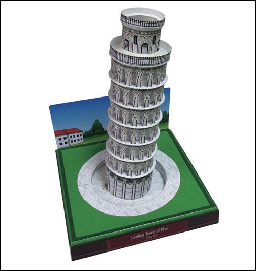 Пизанская башня из бумаги: распечатать и склеить