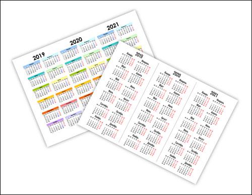 Календарь на 2019, 2020, 2021 года