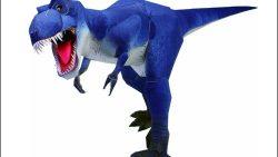 Динозавр из бумаги: скачать, вырезать и склеить