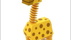 Жираф из бумаги: скачать, распечатать и склеить