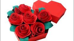 Розы из бумаги в коробке: скачать, распечатать, вырезать и склеить