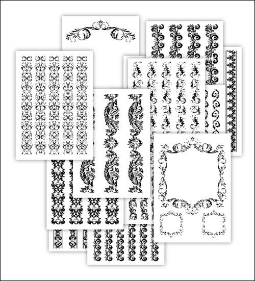 Трафареты узоров для вырезания из бумаги: скачать и распечатать
