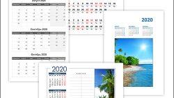 Календарь на август, сентябрь, октябрь 2020: скачать и распечатать