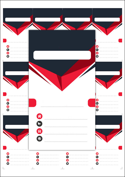 Пустая визитка для заполнения: скачать и распечатать шаблон