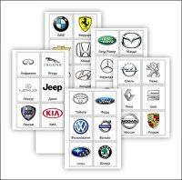 Карточки марки машин: скачать и распечатать