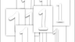Цифра 1 для раскрашивания