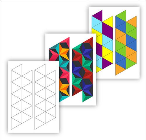 Шаблон гексафлексагон: скачать, распечатить, раскрасить