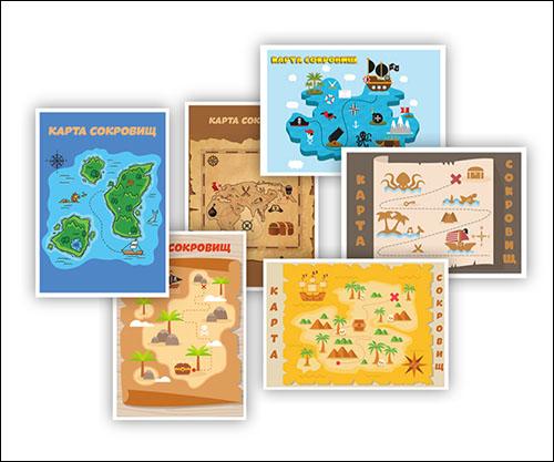 Карта сокровищ для детей: скачать и распечатать шаблон