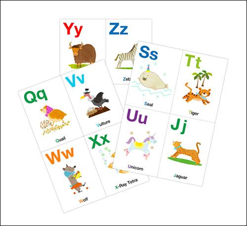 Карточки английского алфавита: скачать и распечатать
