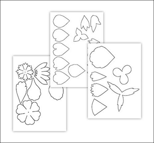 Шаблон листьев пиона: скачать и распечатать