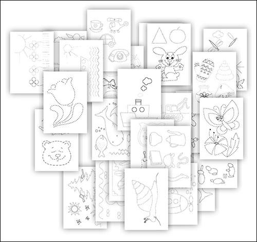 Рисунки пунктирными линиями: скачать и распечатать