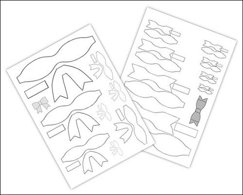 Шаблон бантика из фоамирана: скачать и распечатать