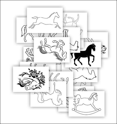 Шаблон коня: скачать и распечатать