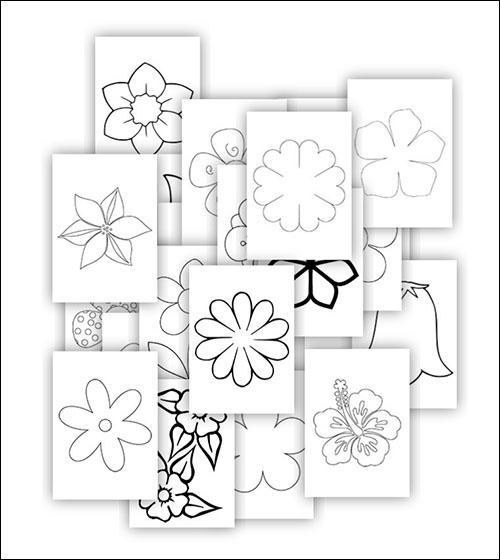 Шаблон цветка: скачать, распечатать и вырезать