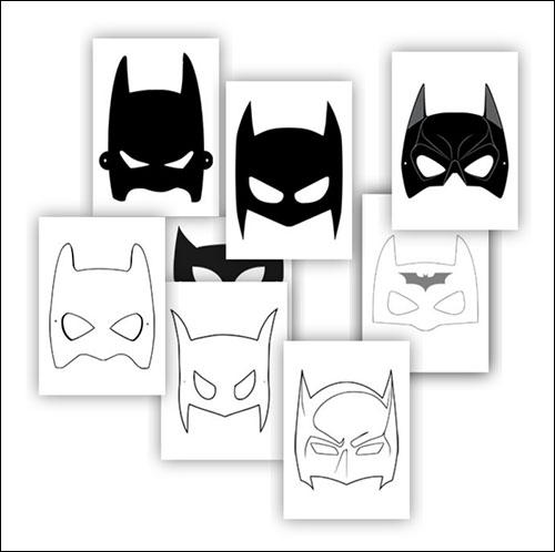 Шаблон маски Бэтмена: скачать и распечатать