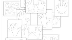 Шаблон детской руки: скачать и распечатать