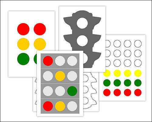 Шаблон светофора: скачать и распечатать