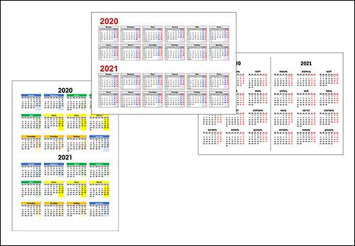 Календарь на 2020 и 2021 год: скачать и распечатать