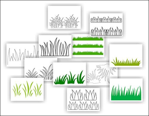 Трафарет трава: скачать, распечатать и вырезать