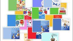 Шаблон открытки с днем рождения: скачать и распечатать