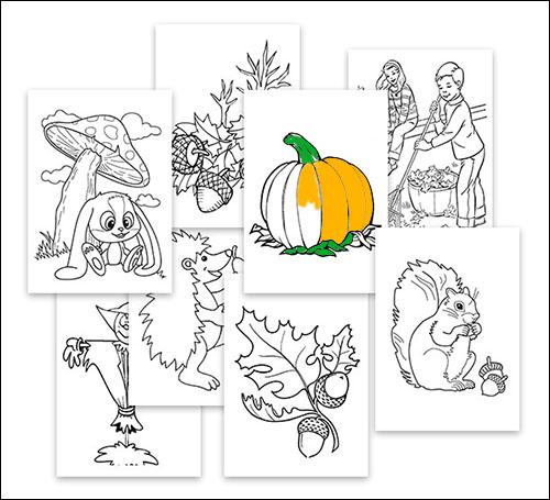 Рисунки на тему: «Осень»: скачать и распечатать