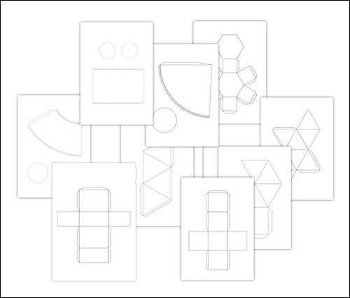 Объемные геометрические фигуры из бумаги: распечатать и склеить