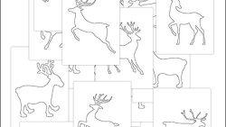 Трафареты новогоднего оленя: распечатать и вырезать