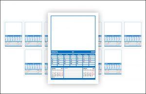Календарь 2020: каждый месяц на отдельном листе