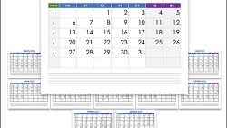 Календарь на 2020 год: каждый месяц на отдельном листе А4