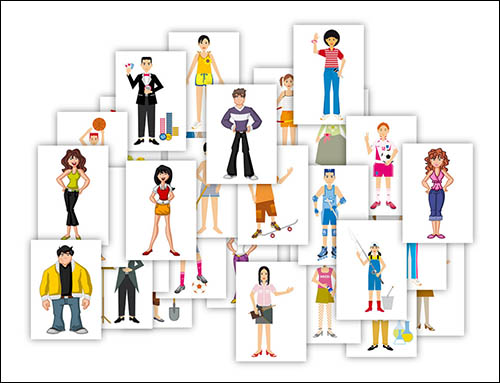 Картинки людей на А4: скачать и распечатать