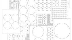 Круги на листе бумаги: скачать и распечатать