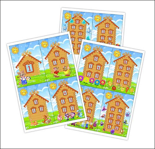 Друзья цифр от 1 до 10: скачать и распечатать карточки
