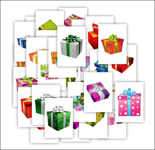 Картинки подарочных коробок: скачать в векторе