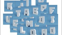 Объемные буквы из бумаги: скачать и распечатать шаблон