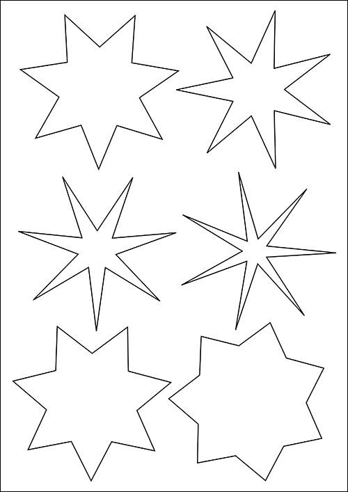 Шаблон семиконечной звезды