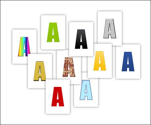Красивые буквы на А4: скачать и распечатать